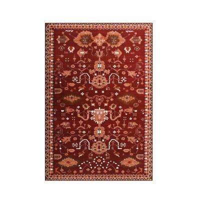 Oasis Red 5 ft. 3 in. x 7 ft. 7 in. Area Rug