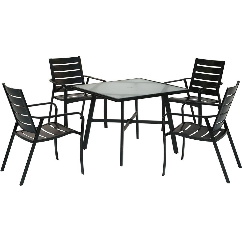 Hanover Cortino 5-Piece Commercial-Grade Aluminum Outdoor ...