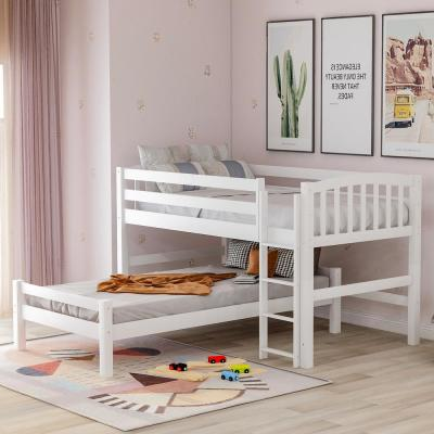 White Twin Binne Over Bunk Loft Bed