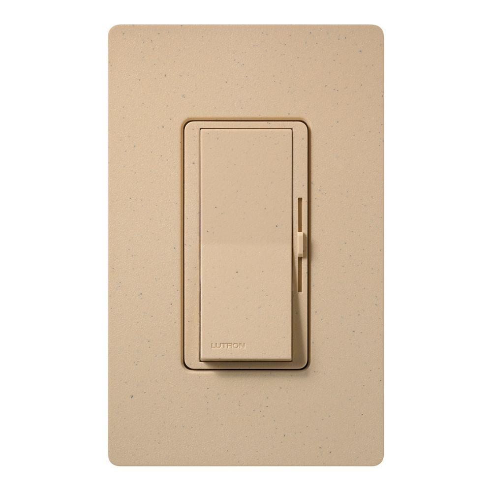 Diva Magnetic Low Voltage Dimmer, 450-Watt, Single-Pole or 3-Way, Desert Stone