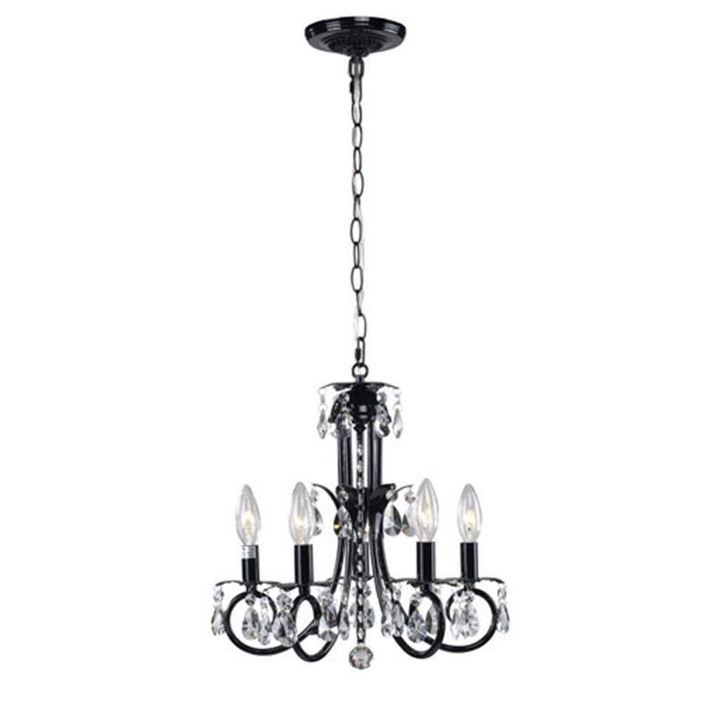 Lawrence 5-Light Black Incandescent Ceiling Chandelier