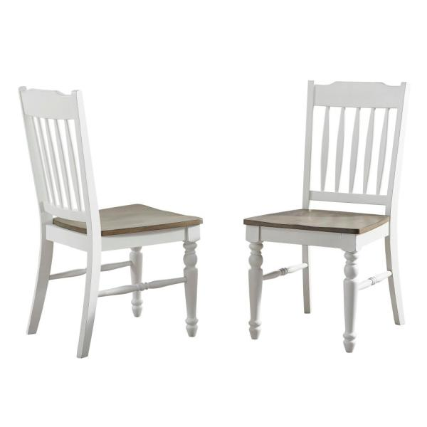 Giles Ivory and Cocoa Side Chair - (set of 2)