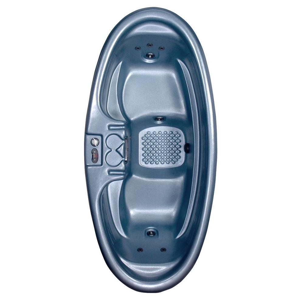 QCA Spas Capri 2-Person Plug and Play 8-Jet Spa with Dual-Level Seating and Hard Cover