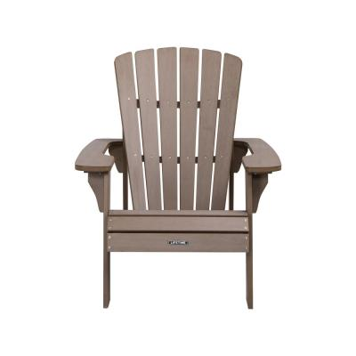 Light Brown Composite Adirondack Chair