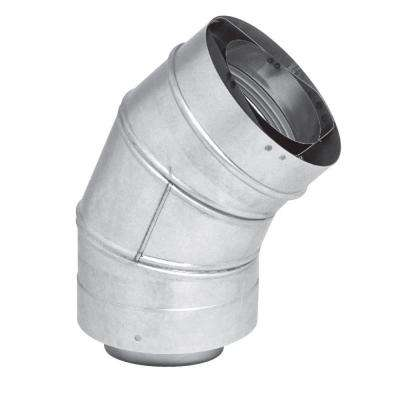 3 in. x 5 in. Stainless Steel Concentric Venting 45-Degree Elbow for Indoor Tankless Gas Water Heater Installations