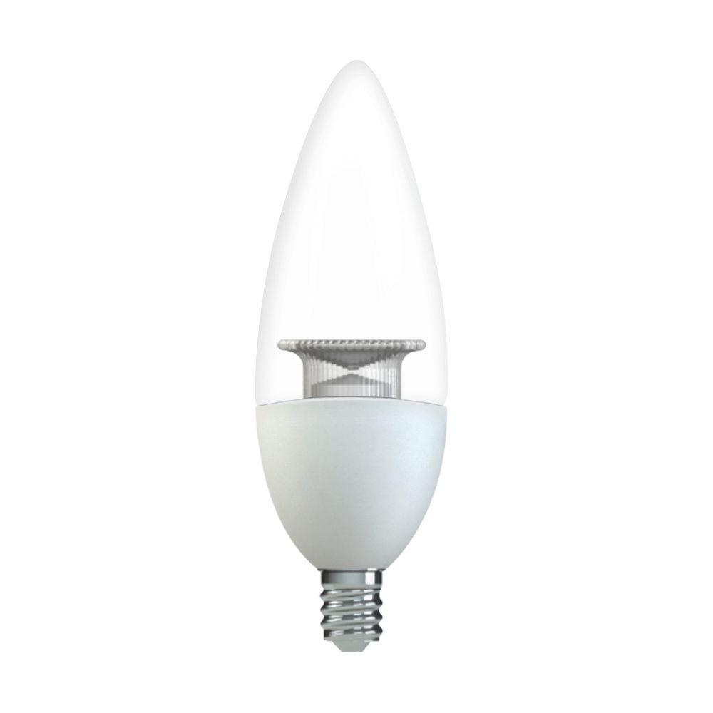 Ge 60w equivalent soft white b11 blunt tip clear candelabra base ge 60w equivalent soft white b11 blunt tip clear candelabra base dimmable led light bulb aloadofball Images