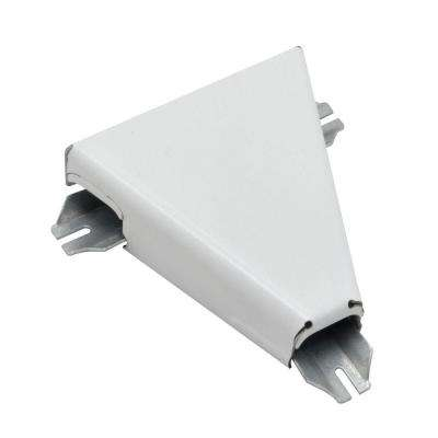 700 Series Metal Surface Raceway T-Fitting, White