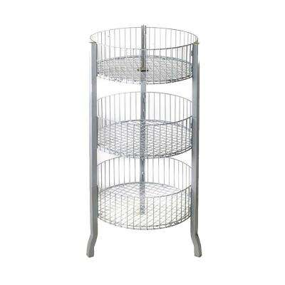18 in. x 45 in. 3-Tier Wire Display Bins, White