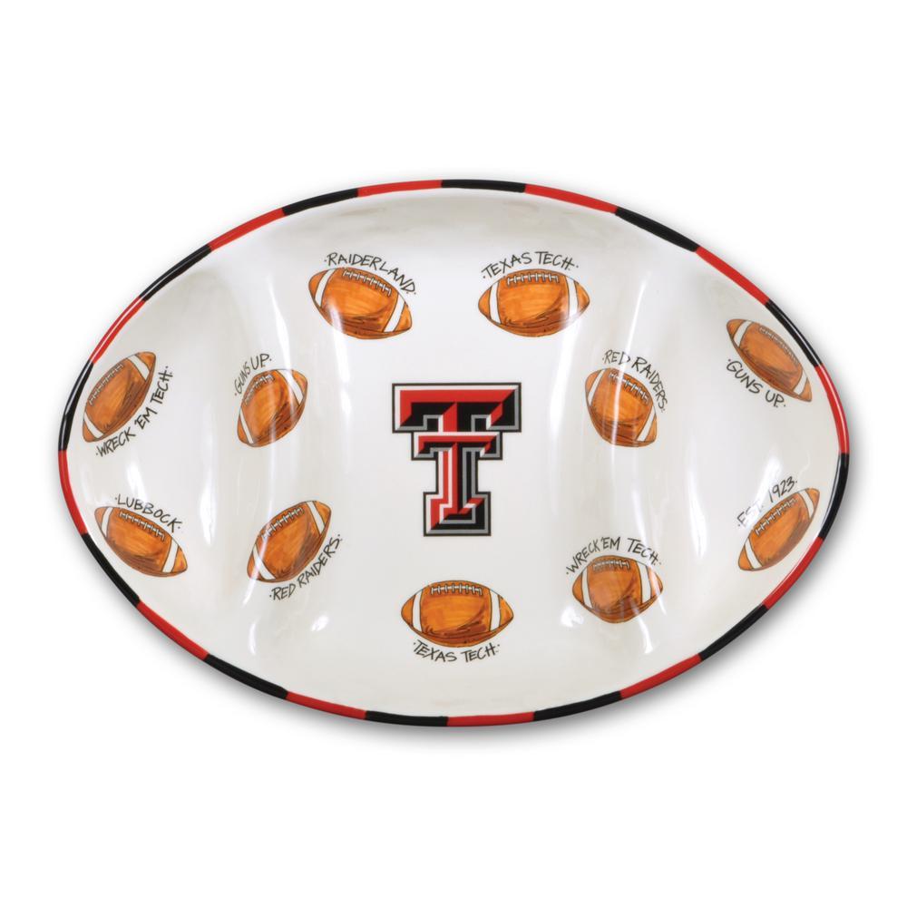Texas Tech Ceramic Football Tailgating Platter
