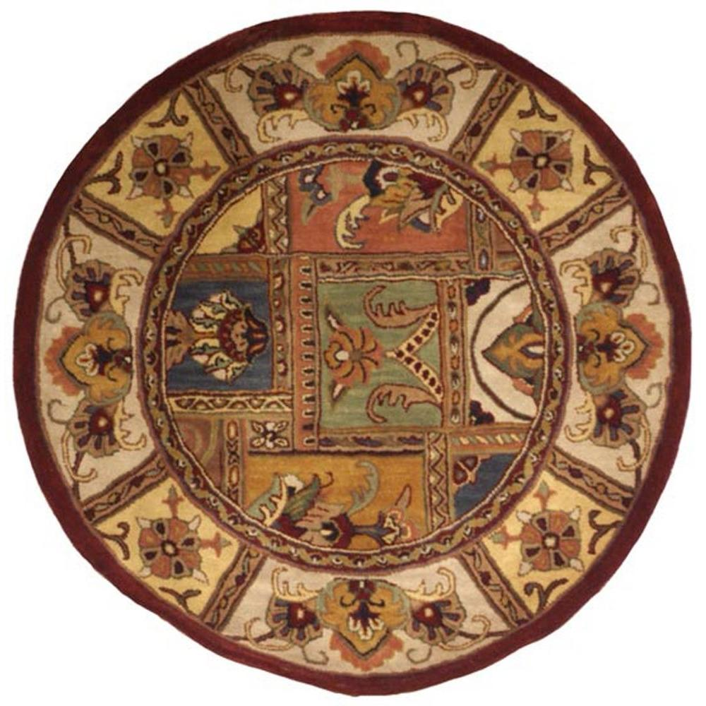 safavieh classic assorted 3 ft 6 in x 3 ft 6 in round area rug cl386a 4r the home depot. Black Bedroom Furniture Sets. Home Design Ideas