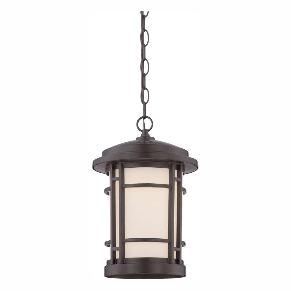 Designers Fountain Barrister 9 in. Burnished Bronze LED Hanging Lantern