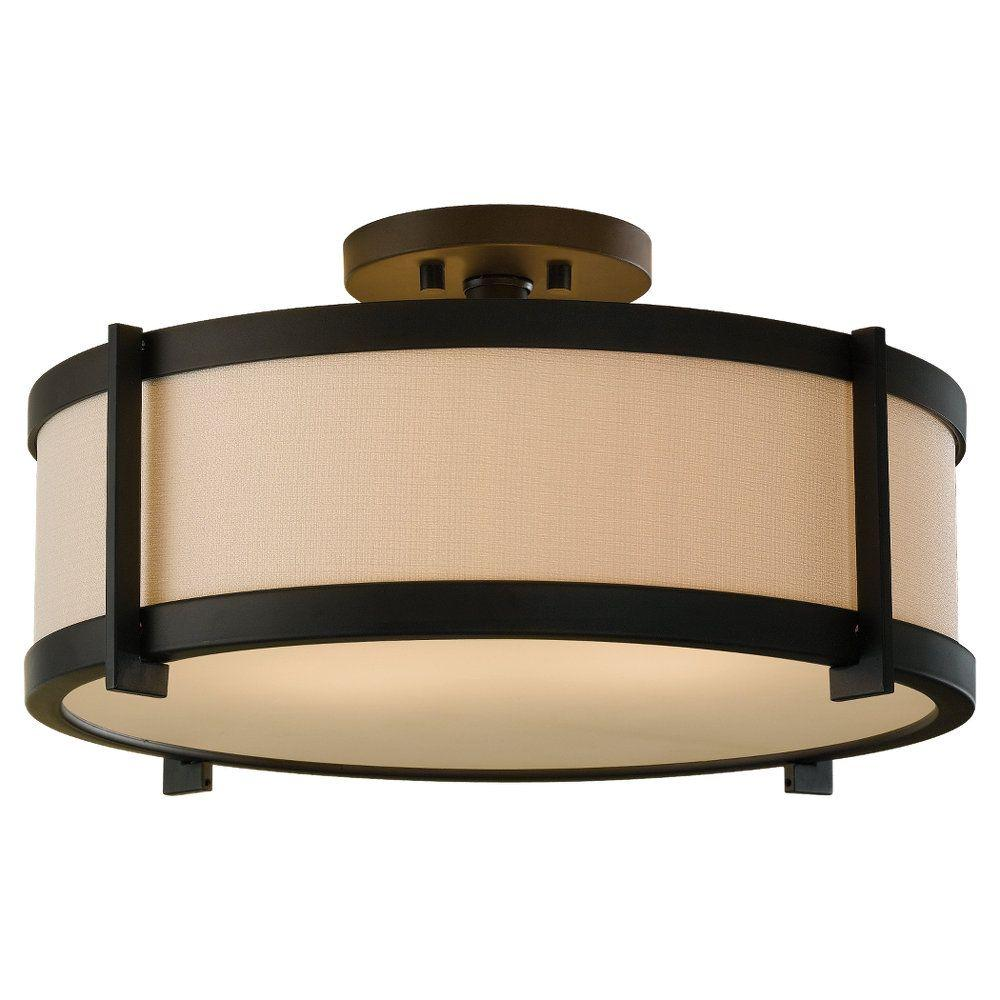 Feiss Stelle 2 Light Oil Rubbed Bronze Semi Flush Mount
