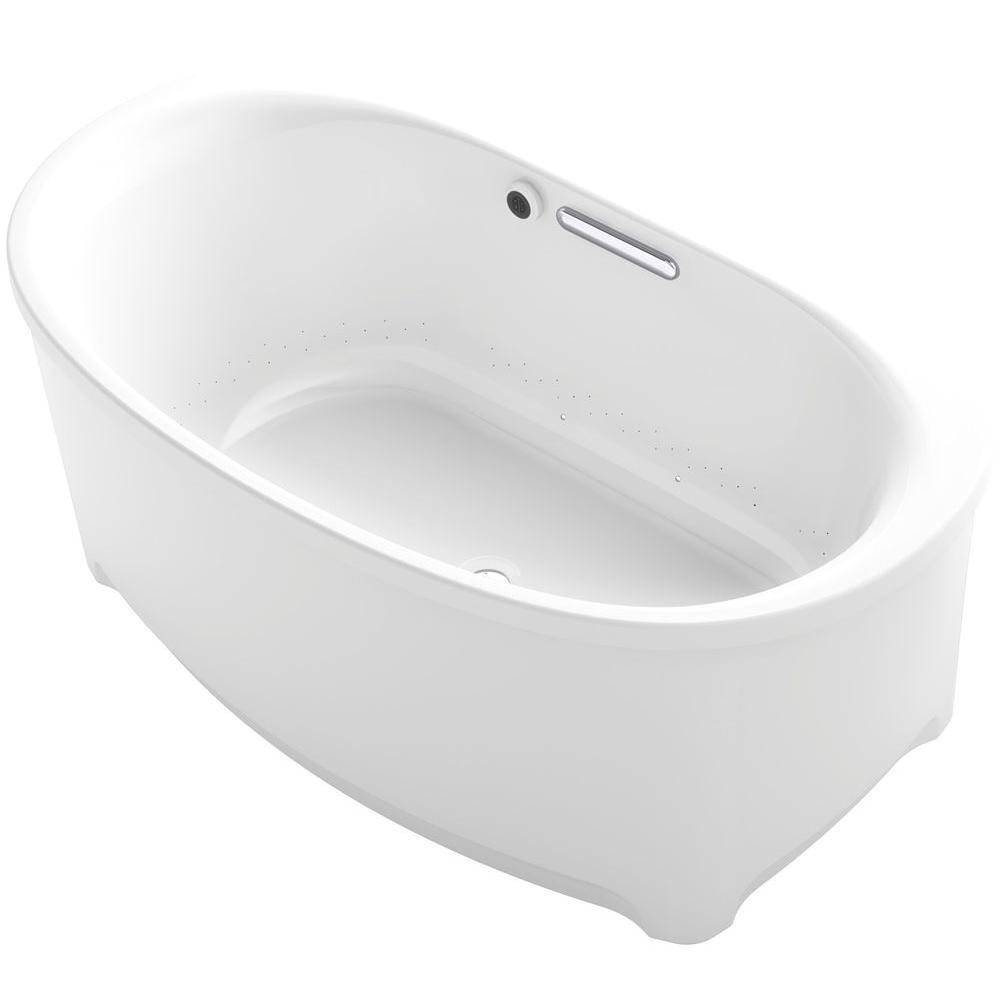 KOHLER Underscore 5 ft. Air Bath Tub in White-K-5702-GW-0 - The Home ...