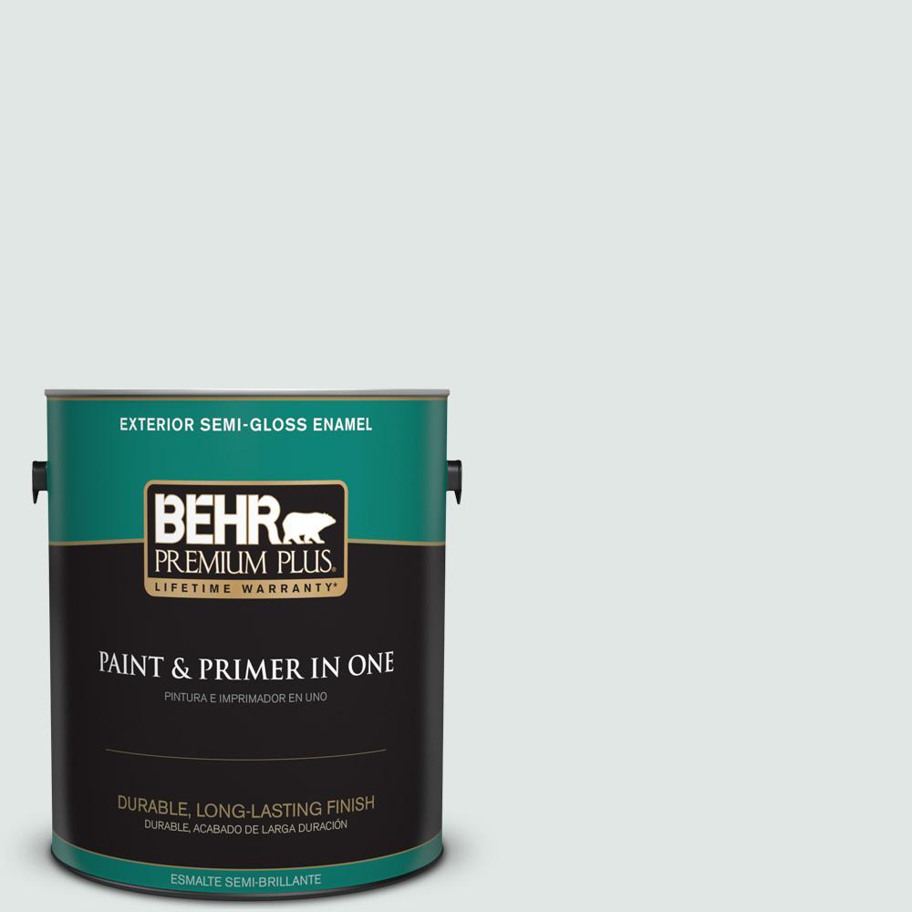 1 gal. #PPU13-17 Fresh Day Semi-Gloss Enamel Exterior Paint