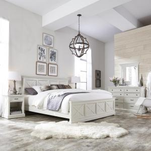 White King Bedroom Sets.  4 Home Styles Seaside Lodge 5 Piece Hand Rubbed White King Bedroom Set
