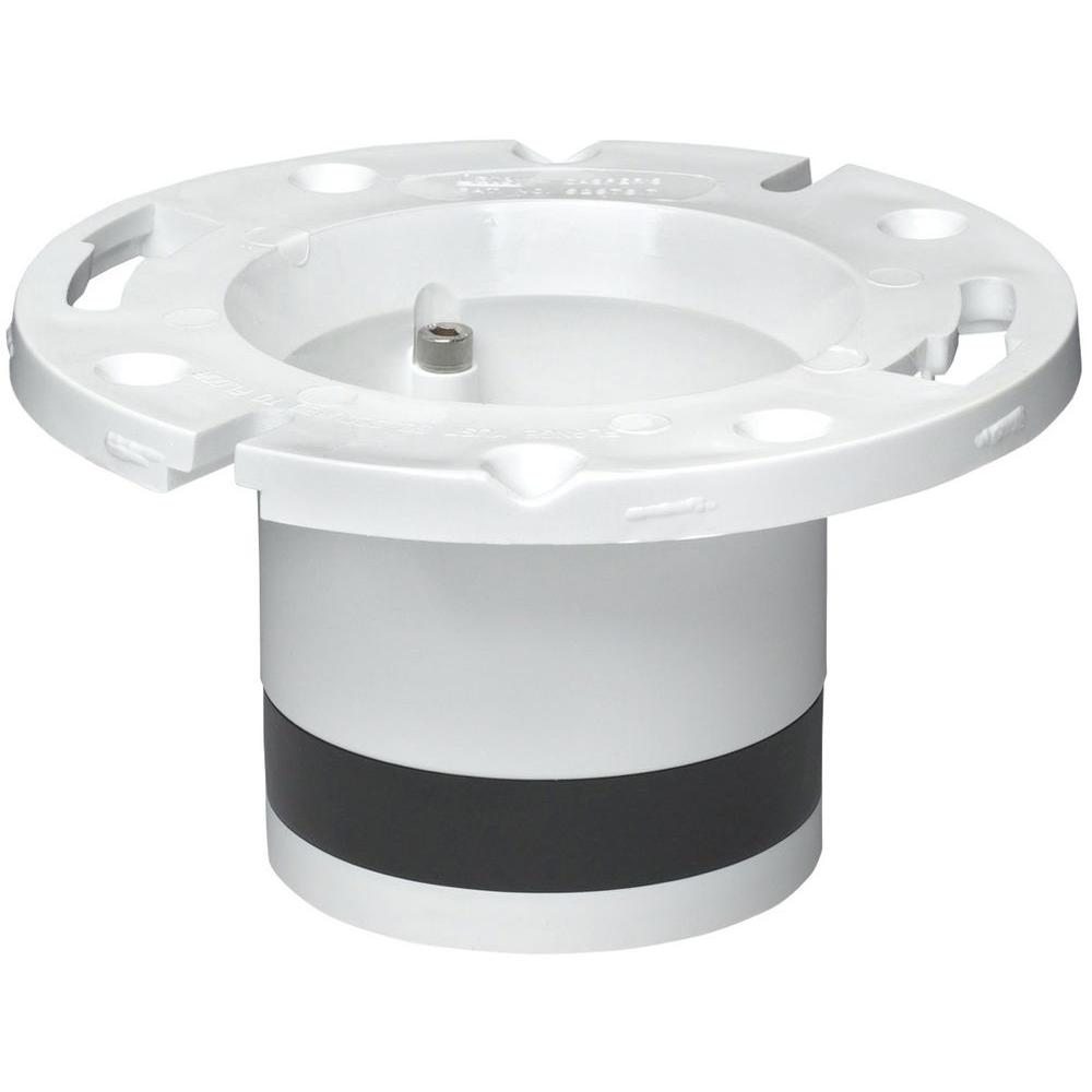Oatey 4 in. PVC DWV Replacement Closet Flange-43539 - The Home Depot