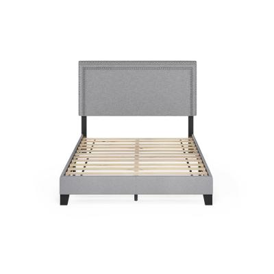 Laval Glacier Full Double Row Nail Head Bed Frame