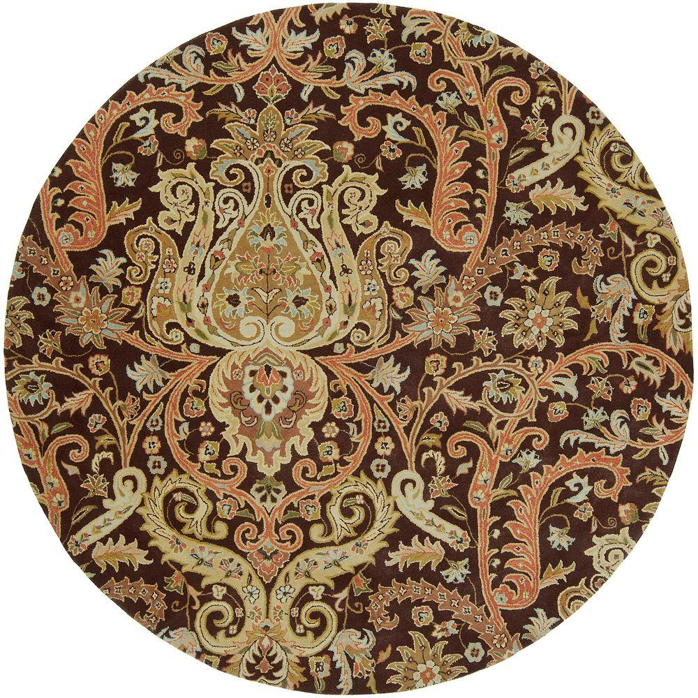 Bassett Chocolate 8 ft. Round Area Rug