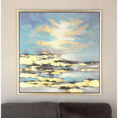 "39 in. x 39 in. ""Sunrise"" Canvas Wall Art"