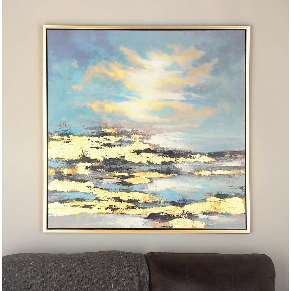 39 in. x 39 in. Sunrise Canvas Wall Art