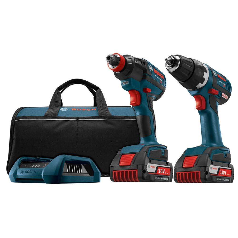 18-Volt Lithium-Ion Cordless Drill/Driver and Socket-Ready Impact Driver Combo