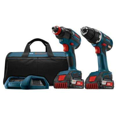 18-Volt Lithium-Ion Cordless Drill/Driver and Socket-Ready Impact Driver Combo Kit with Wireless Charging Kit (2-Tool)