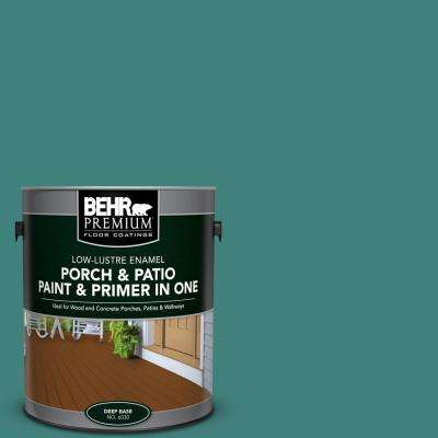 1 gal. #M450-6 Bubble Turquoise Low-Lustre Interior/Exterior Paint and Primer In One Porch and Patio Floor Paint