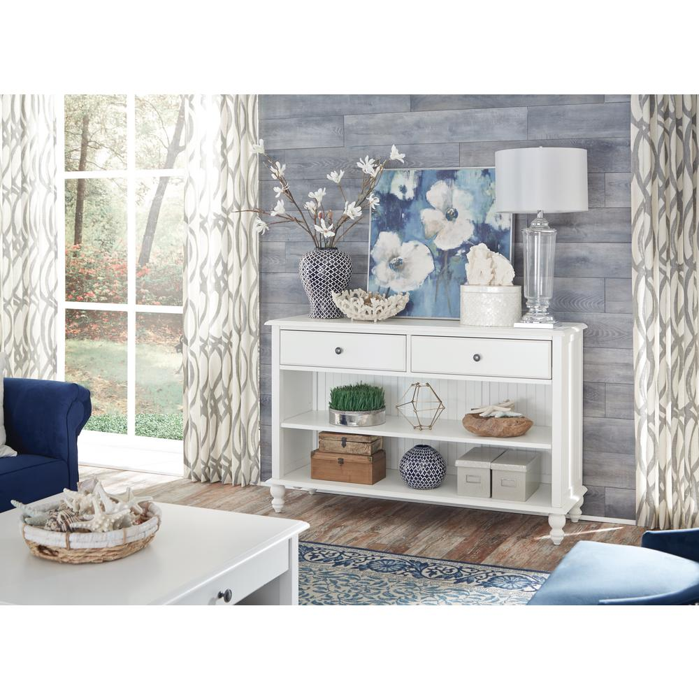 International concepts white accent tables living room cottage beach white 2 drawer console table geotapseo Gallery
