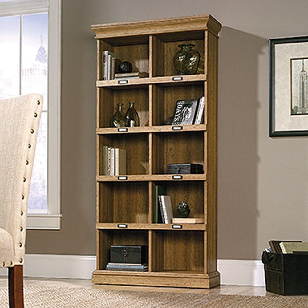 Barrister Lane Scribed Oak Open Bookcase