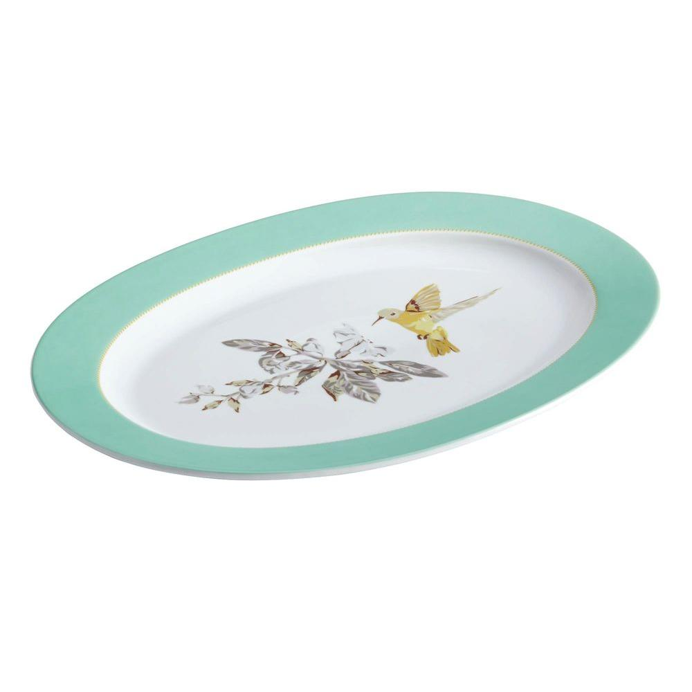 Dinnerware Fruitful Nectar Porcelain 10 in. x 14 in. Oval Platter