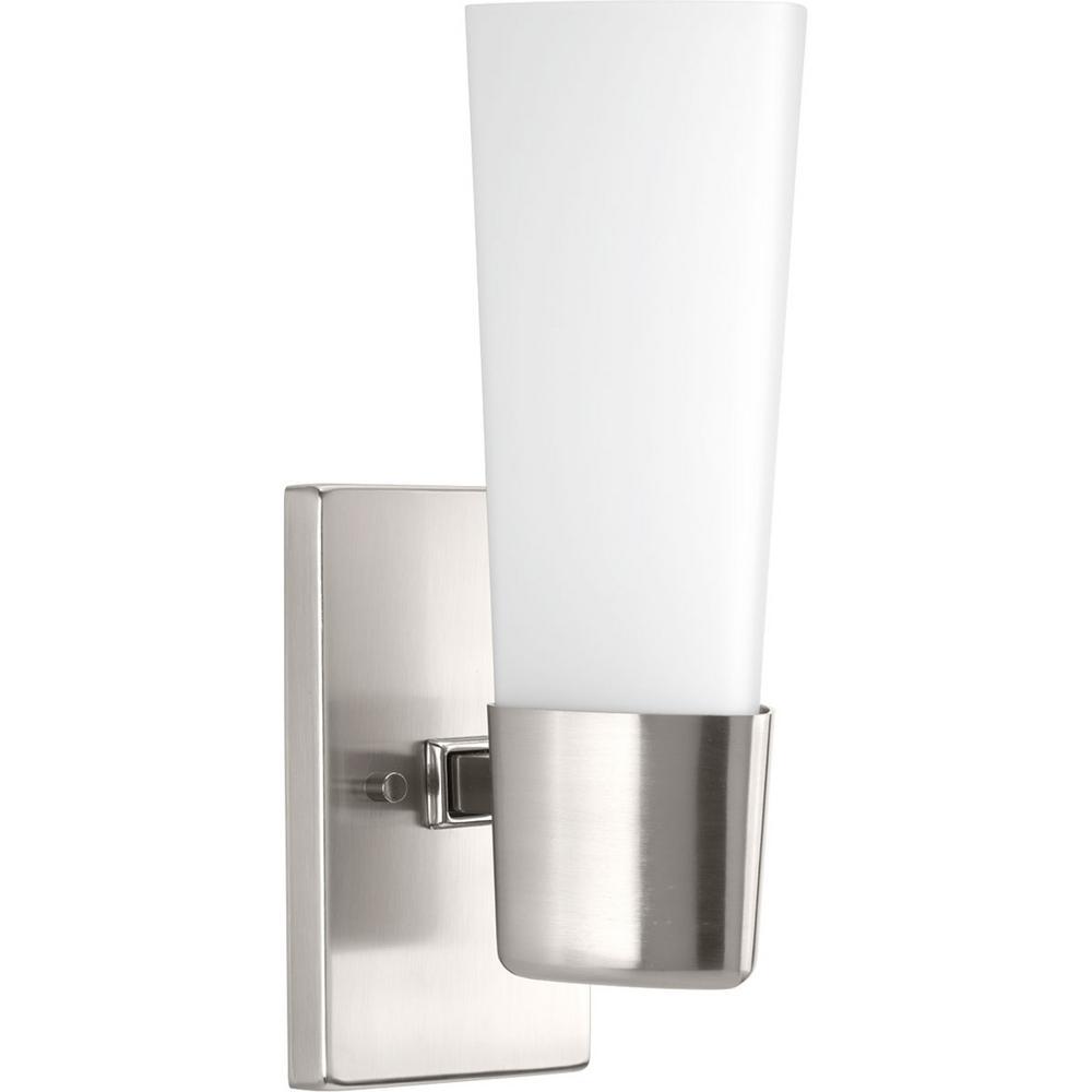 Zura Collection 1 Light Brushed Nickel Bath Sconce ...