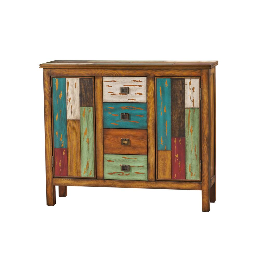 Noble House Everest Multicolor Cabinet Drawer with 2-Doors  sc 1 st  The Home Depot & Noble House Everest Multicolor Cabinet Drawer with 2-Doors-295685 ...