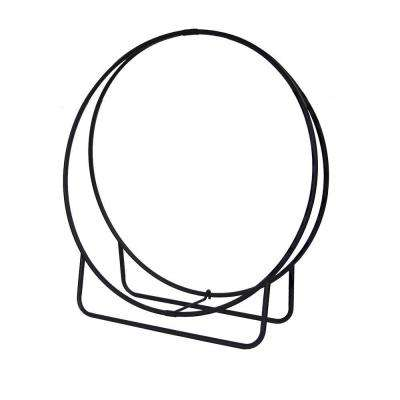43 in. Black Steel Log Hoop