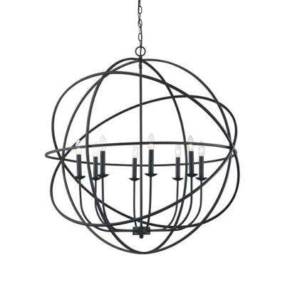 Apollo 8-Light Rubbed Oil Bronze Chandelier