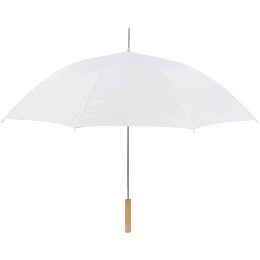 48 In White Wedding Umbrella Manual Open