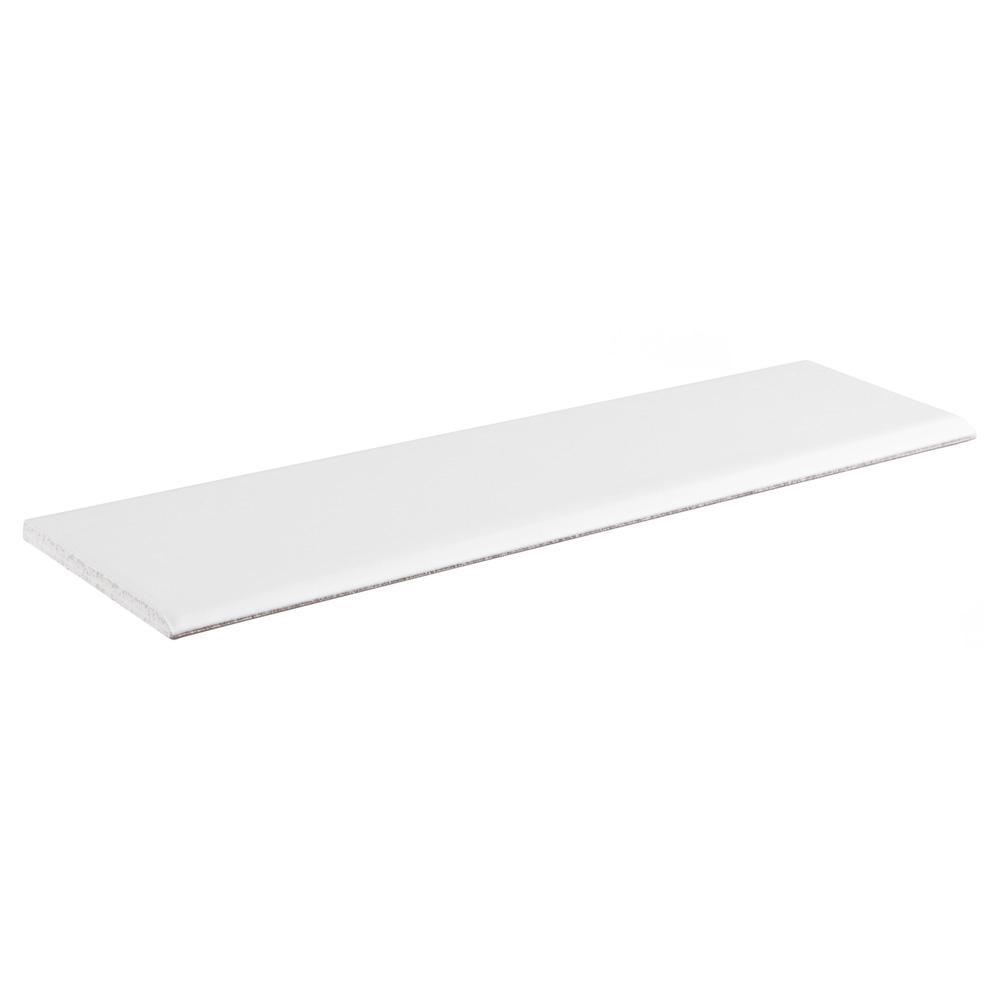 Merola Tile Battiscopa Matte White 3 1 4 In X 12 3 8 In Ceramic Wall Trim Tile Wosbtmmw The Home Depot