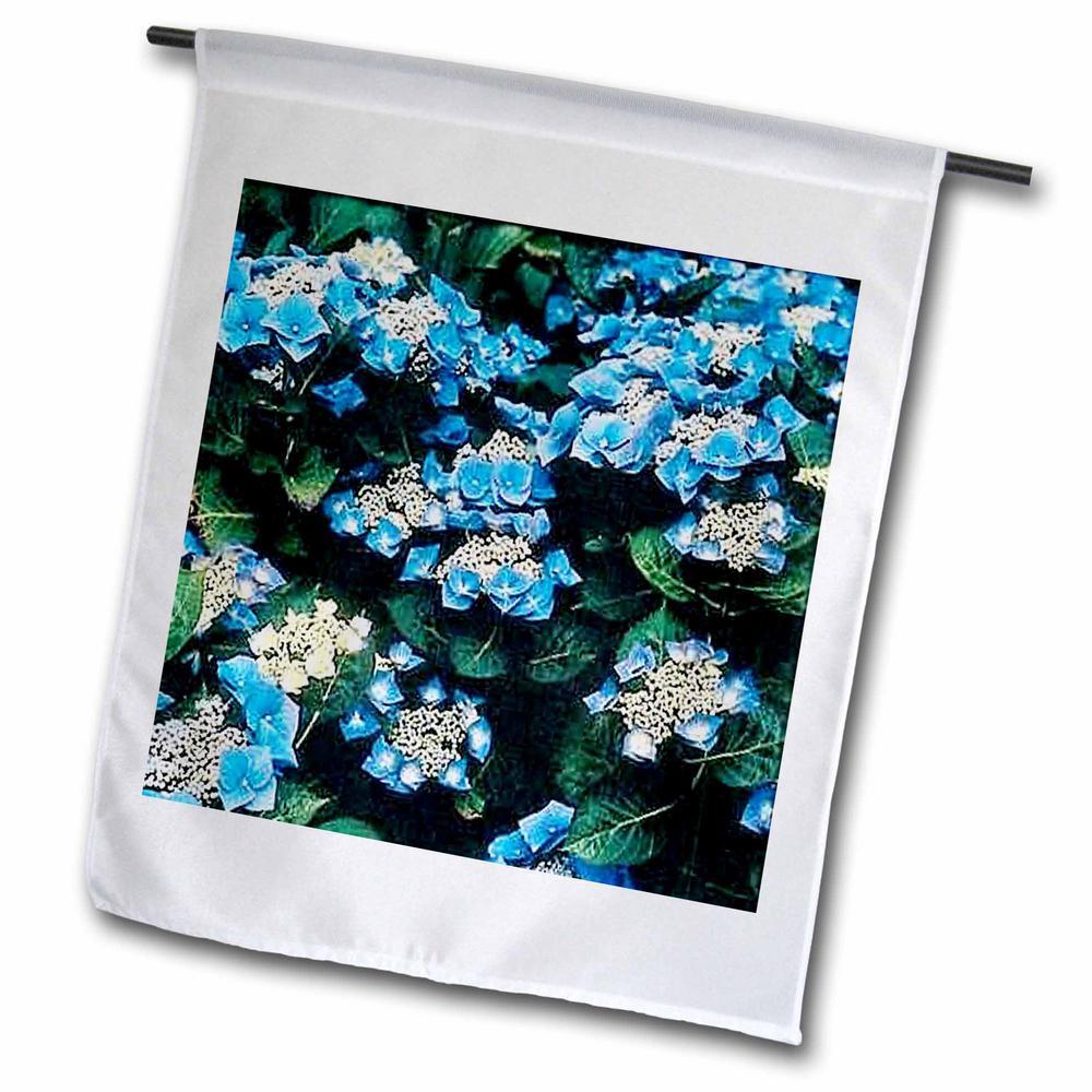 Flowers 1 ft. x 1-1/2 ft. Hydrangea Flag