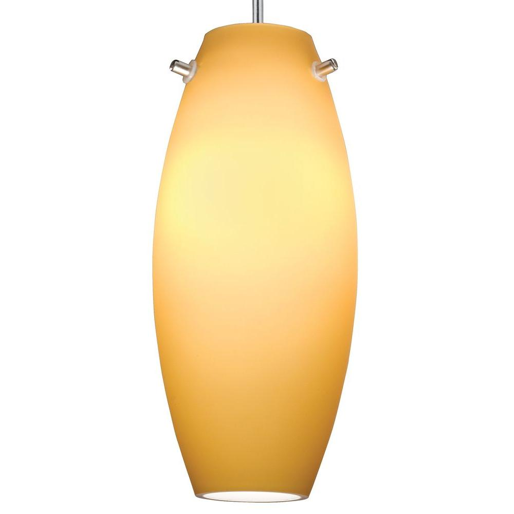 Juno 1-Light Sunset Gold LED Pendant Kit Ellipse