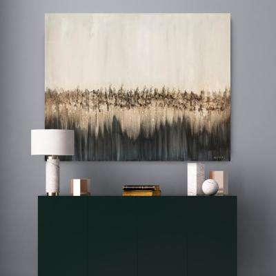 """30 in. x 60 in. """"Emerald Fields"""" by Mat Printed and Painted Canvas Wall Art"""