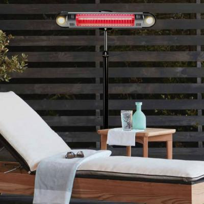 Walle 1,500-Watt 6 ft. Heritage Bronze Electric Patio Heater with Remote