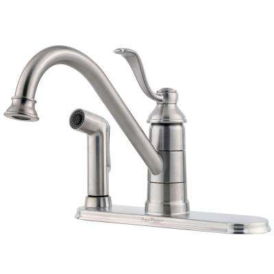 Portland Single-Handle Standard Kitchen Faucet in Stainless Steel