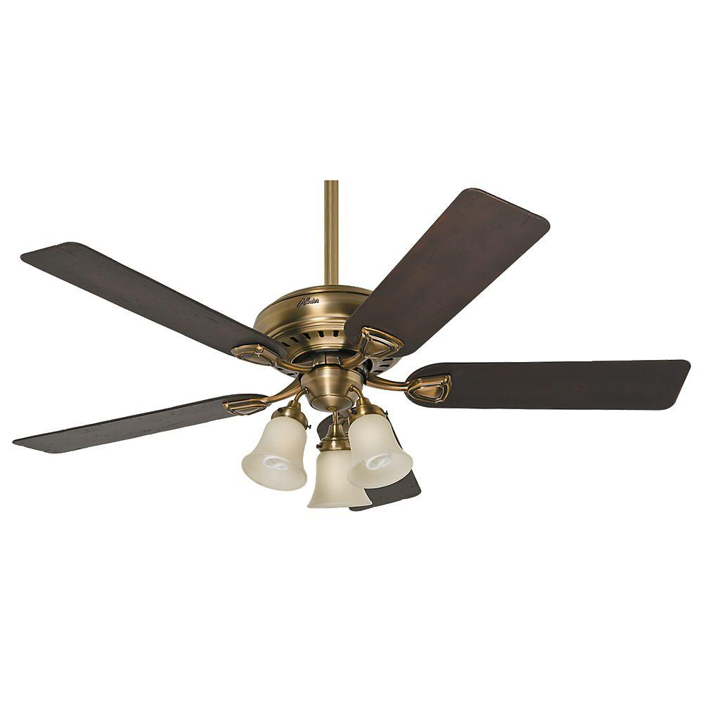 Hunter bixby 46 in indoor antique brass ceiling fan 28791 the indoor antique brass ceiling fan aloadofball Gallery