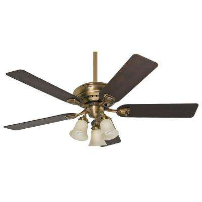 Best rated rustic 43 49 ceiling fans lighting the home depot indoor antique brass ceiling fan aloadofball Choice Image