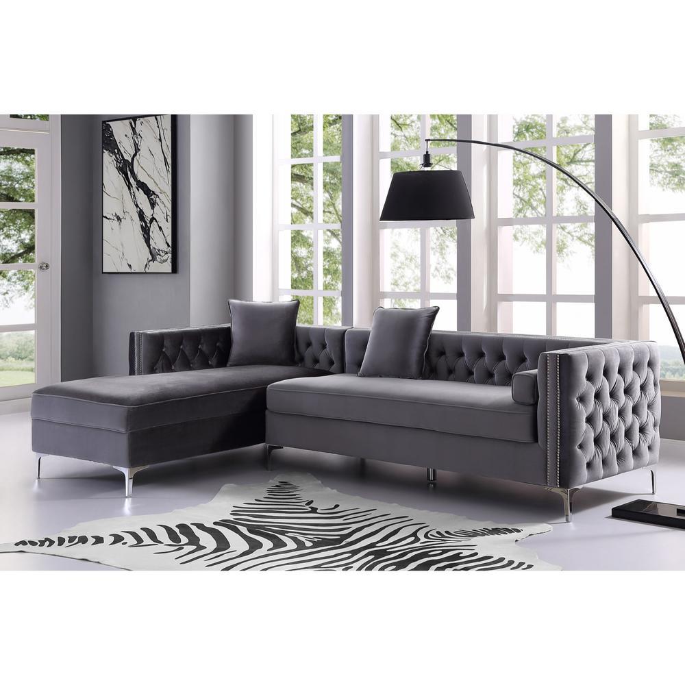 Incredible Inspired Home Olivia Grey Silver Velvet Left Facing Ibusinesslaw Wood Chair Design Ideas Ibusinesslaworg