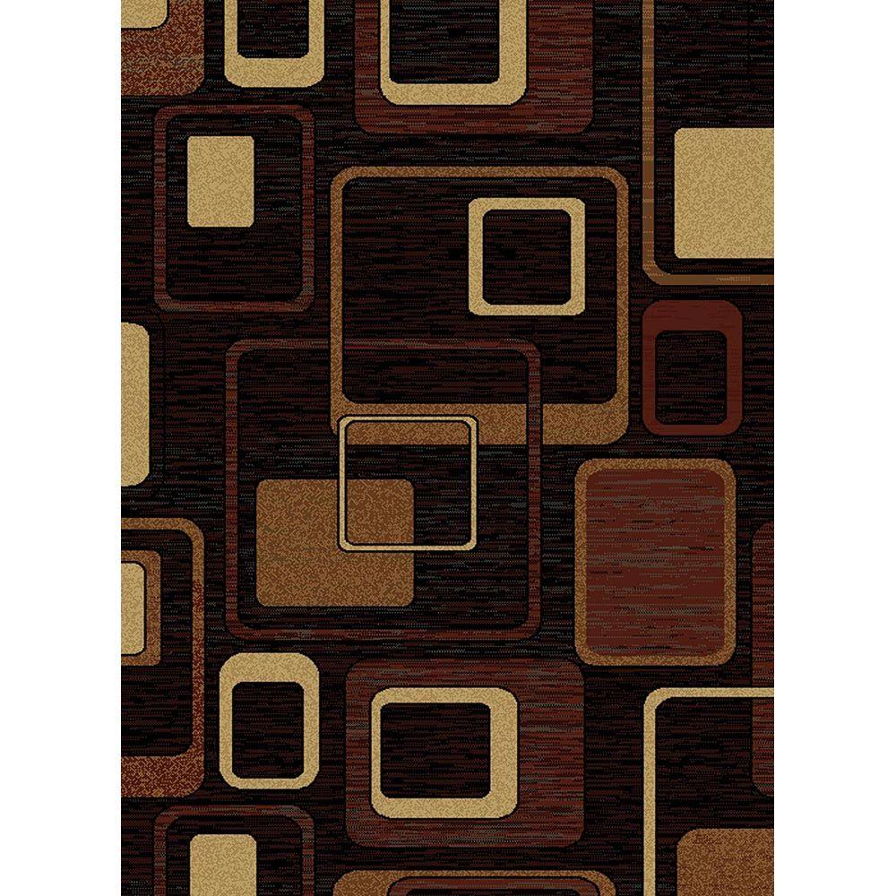 United Weavers Dunkin Black 5 ft. 3 in. x 7 ft. 2 in. Area Rug