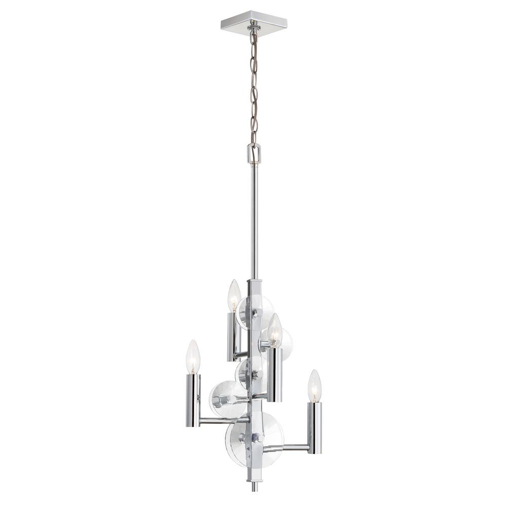 Rogue Decor Engeared 4-Light Chrome Chandelier