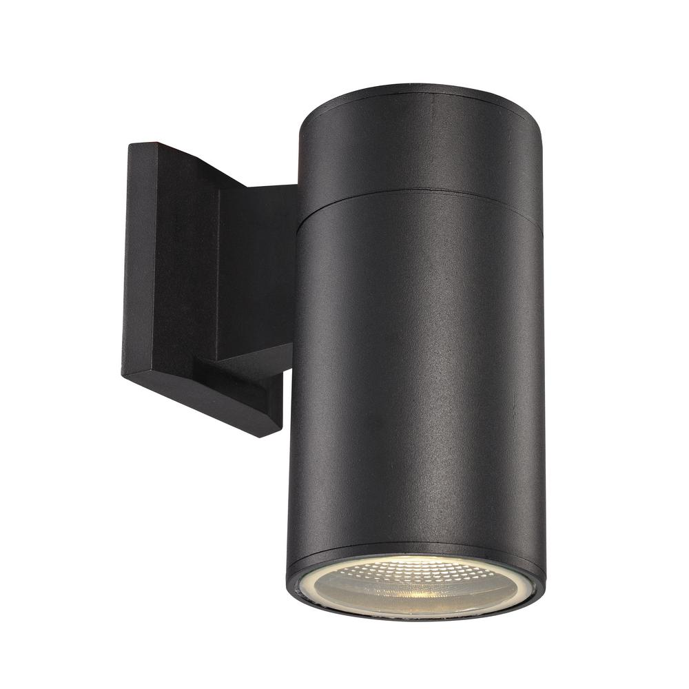Bel Air Lighting Compact 1-Light Black Integrated LED ...