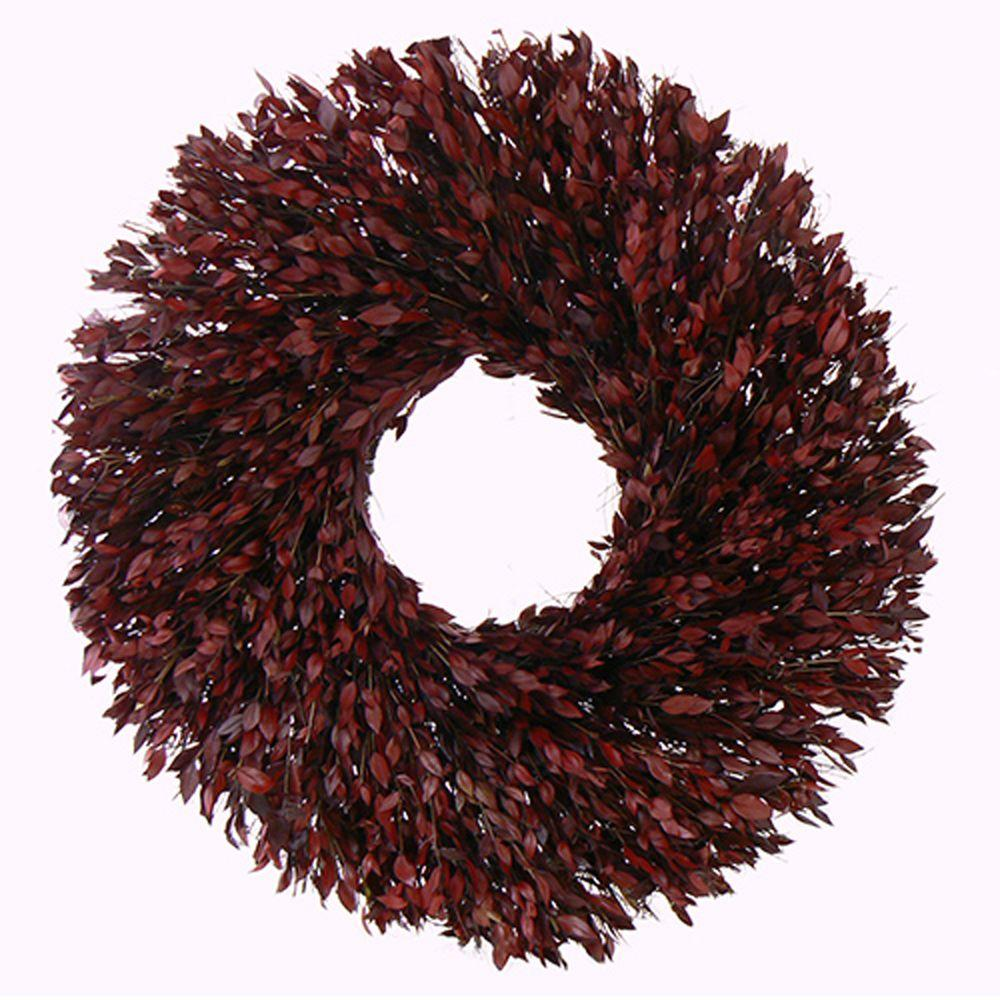 The Christmas Tree Company Taste of Myrtle 30 in. Dried Floral Wreath-DISCONTINUED