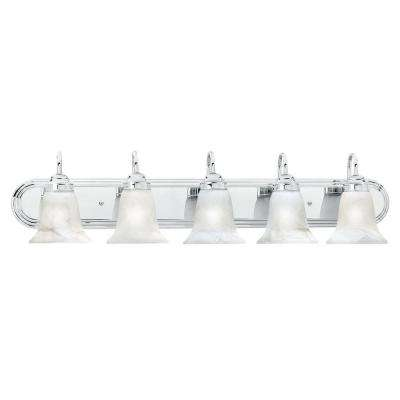 Homestead 5-Light Chrome Wall Vanity Light