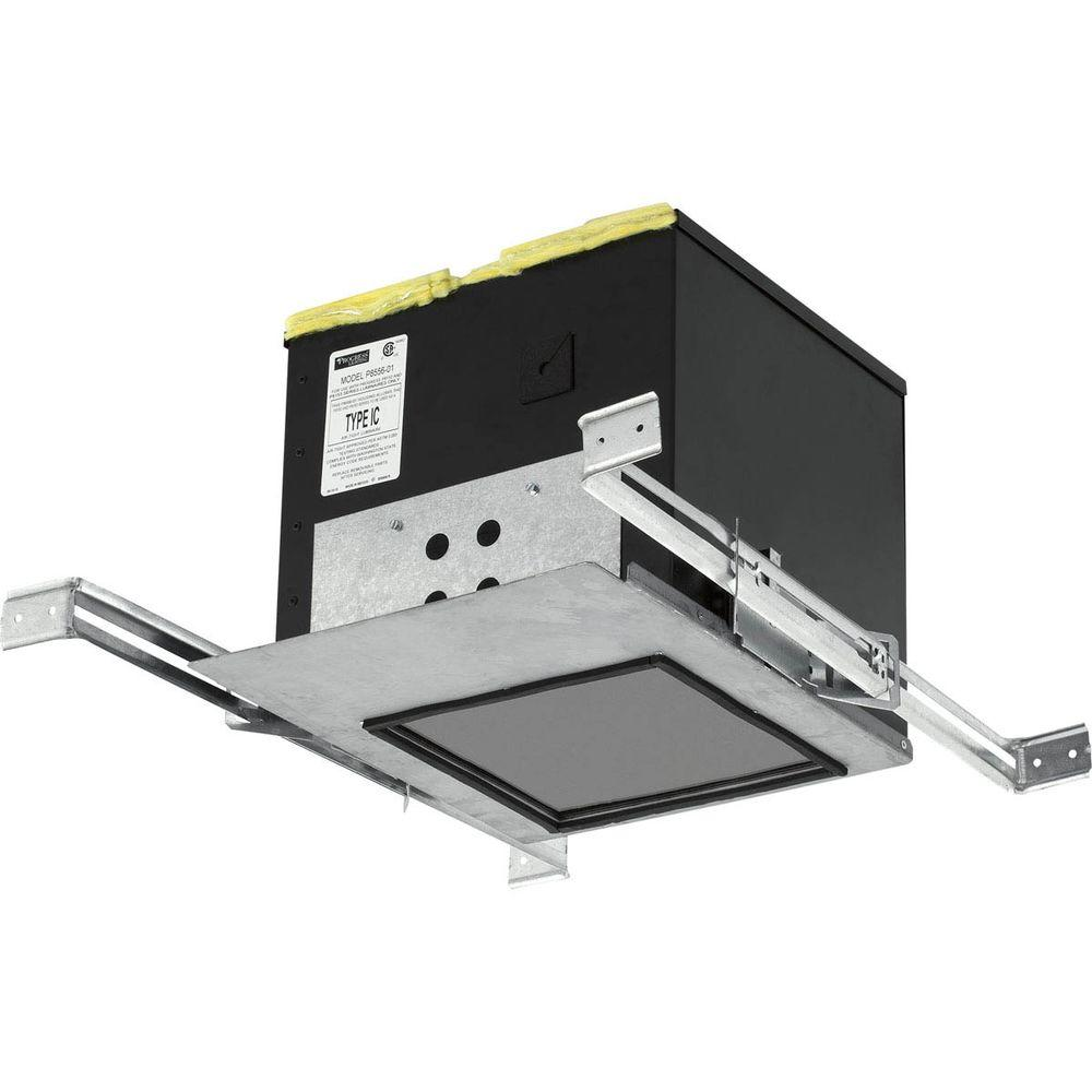 Progress Lighting 2 in. LED Silver Recessed IC Box for Do...